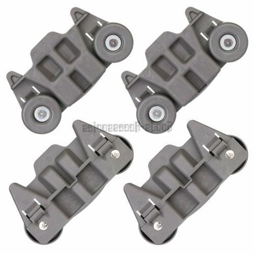 4 pack w10195416 dishwasher lower rack wheel