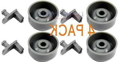 4X Dishwasher Lower Rack Roller Wheel Axle For GE WD35X21041