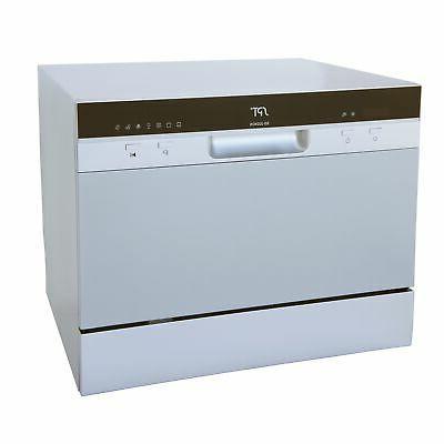 Silver Countertop Dishwasher Delay Start