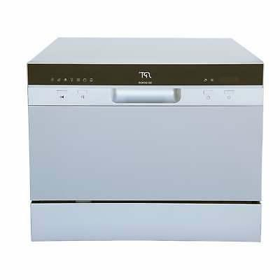 6 place setting silver countertop dishwasher