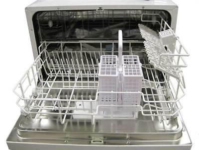 SPT 6 White Dishwasher with Delay Start