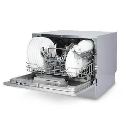 6 Settings Portable Compact Dishwasher,