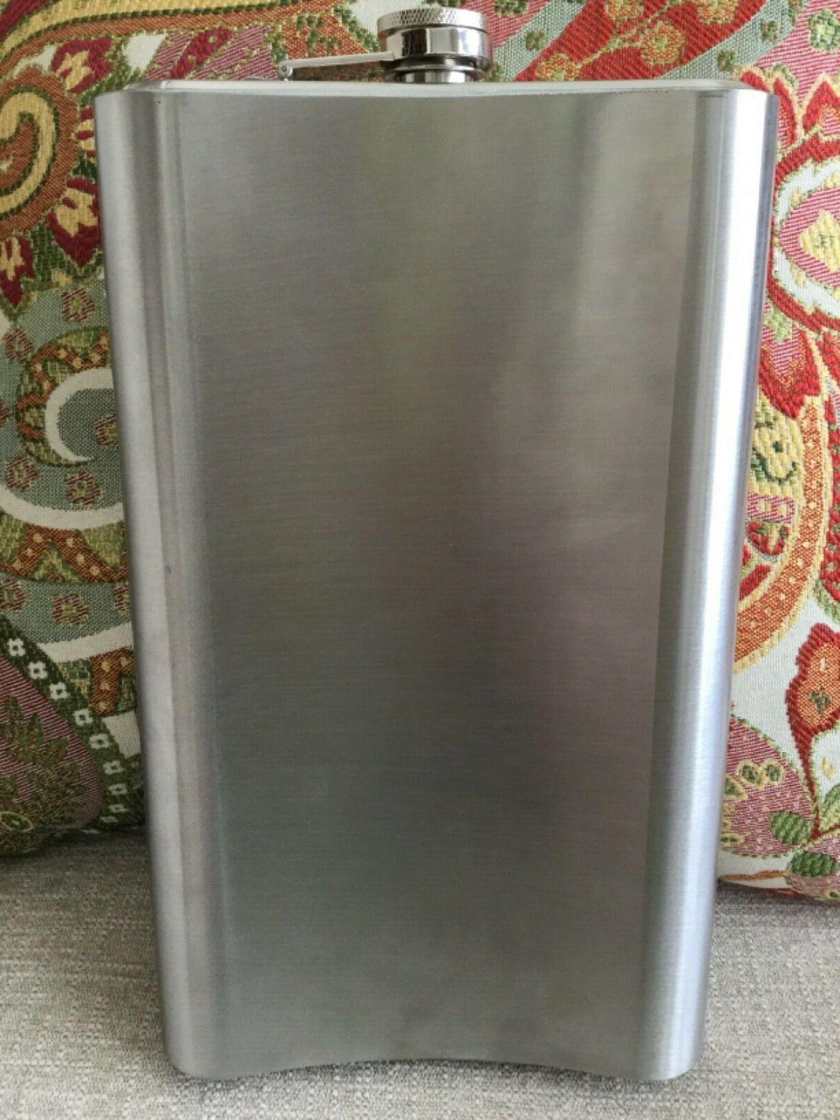 64oz JUMBO Stainless Attached Cap Liquor Size