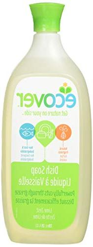 Ecover, Liquid Dish Soap, Lime Zest, 25 fl oz