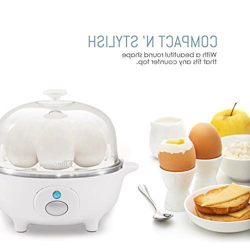 Elite Cuisine EGC-007 Electric & Soft, Egg Cooker with off Egg