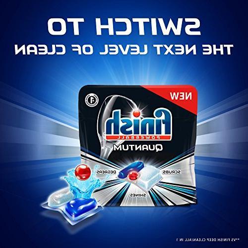 Finish Quantum Powerball, Shine Dishwashing Tablets, 68