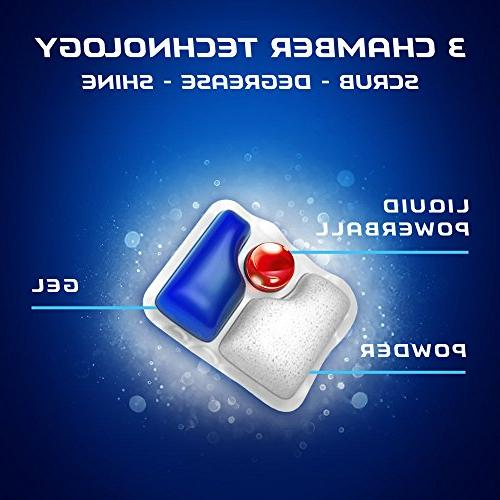 Finish Quantum Powerball, Shine Dishwashing Count
