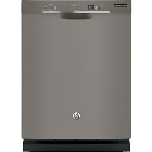 "Ge - 24"" Front Control Tall Tub Built-in Dishwasher - Slate"