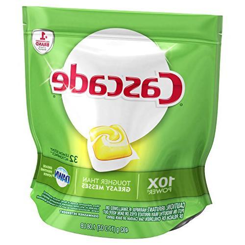 Cascade ActionPacs Detergent Lemon