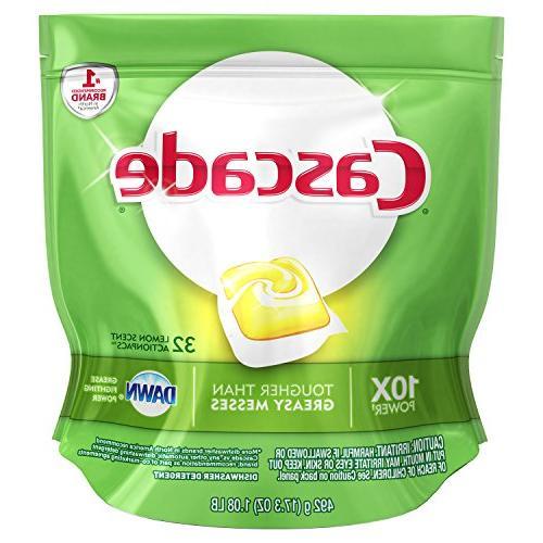 actionpacs dishwasher detergent lemon scent