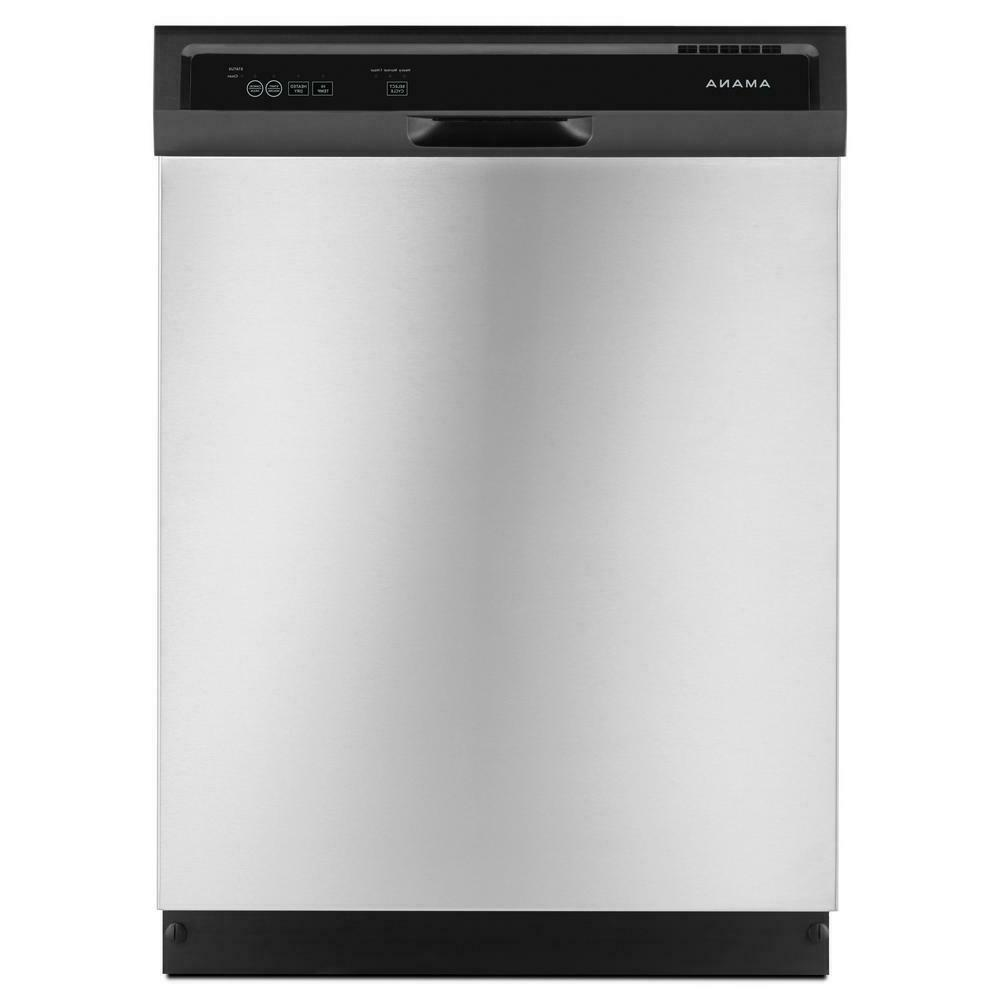 """Amana ADB1400AGS 24"""" Full Console Stainless Built-In 3 Wash"""