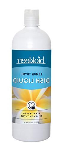 Biokleen Natural Dish Liquid Lemon Thyme Essence with Aloe -