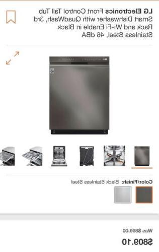 black stainless dishwasher