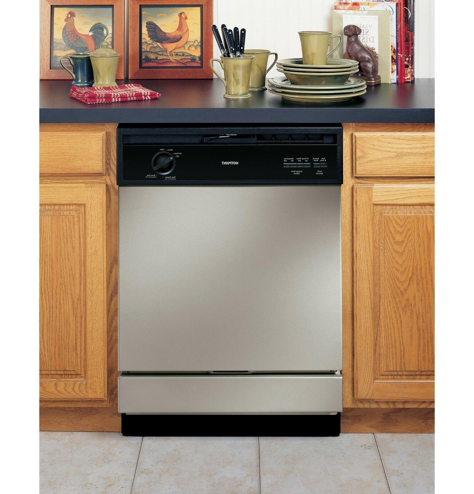 Brand New GE HOTPOINT® BUILT-IN DISHWASHER Silver
