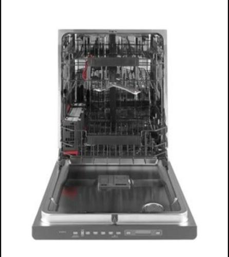 GE Stainless Interior Built-In Dishwasher Hidden Controls