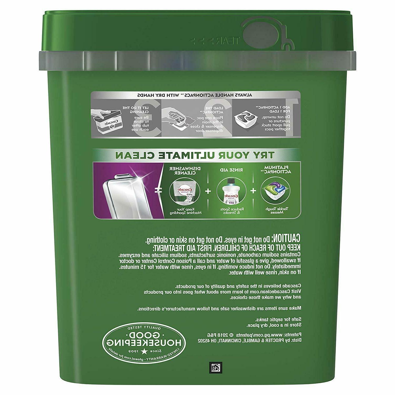 Cascade ActionPacs Detergent Dish Scent 78 ct