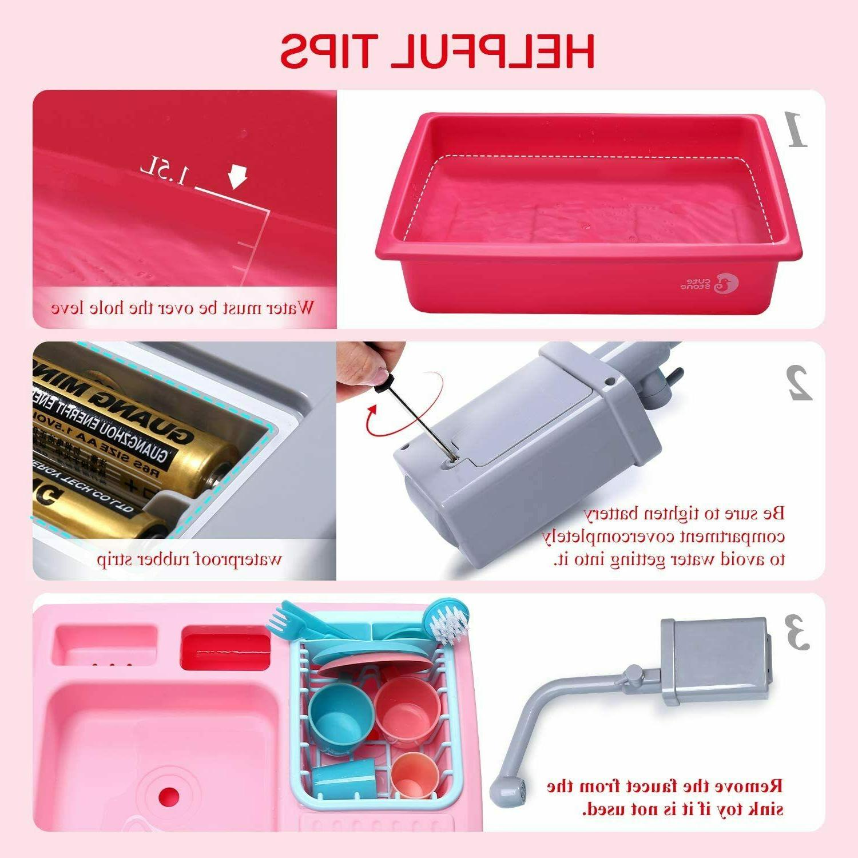 Color Changing Kitchen Sink Kids