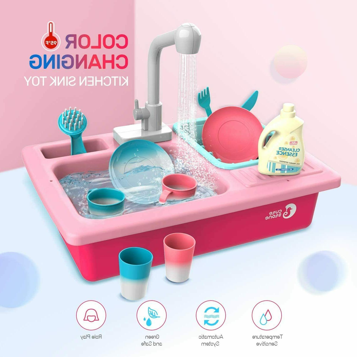 Color Play Kitchen Sink Toy Kids Running