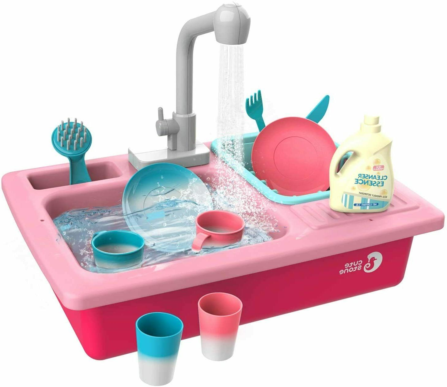 color changing pretend play kitchen sink toy