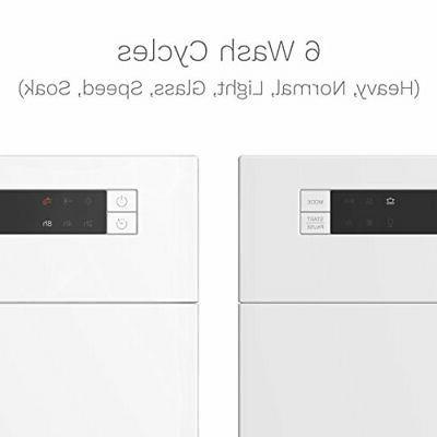 hOmeLabs Compact Dishwasher - Energy Star Portable Mini Washer