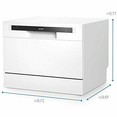 hOmeLabs Compact Dishwasher - Portable Mini Washer