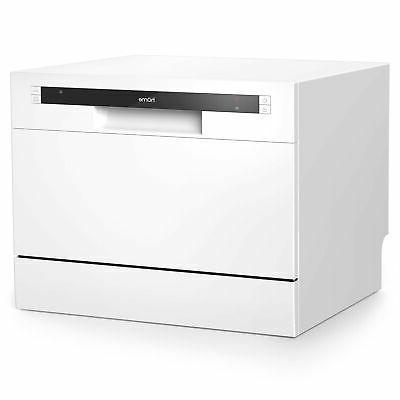 hOmeLabs Compact Countertop Dishwasher - Portable Mini Dish