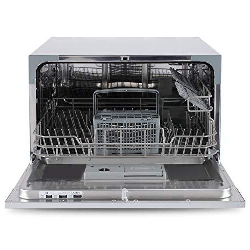 DELLA Compact with Wash Cycles for Condo Apartment Silver