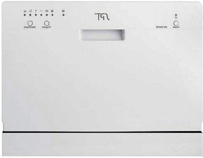 countertop dishwasher 6 wash cycles portable front