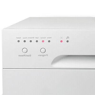 Countertop Dishwasher White Portable Compact Dish Washer