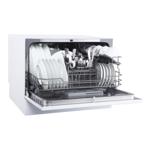 Countertop Portable Dishwasher Magic Chef White with 6 Place