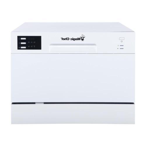 Magic Dishwasher White 6 Place Settings Compact