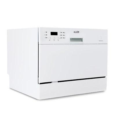 Countertop Portable Dishwasher 6 And Delay White