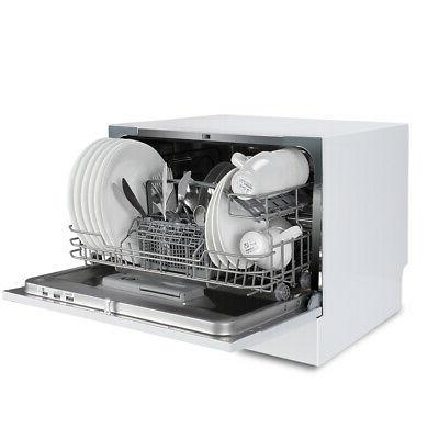 6 Cycles Portable Compact Dishwasher,