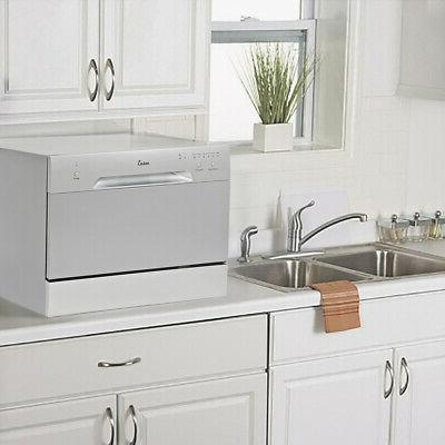 Countertop Stainless Steel Portable Compact w 6 Wash