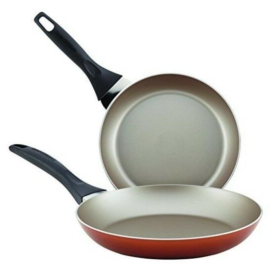 "Dishwasher Safe Nonstick Twin Pack Skillet Set, 8"", 10"" Copp"