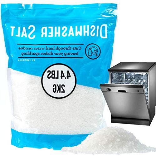 4.4 LB Dishwasher Salt/Water Softener Salt - Compatible with