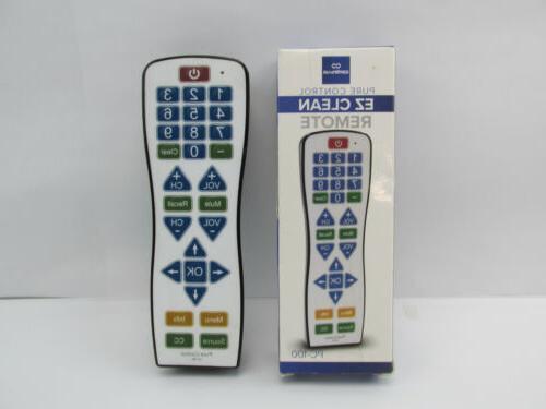 Water Resistant Universal TV Remote – EasyClean PC100 Smar