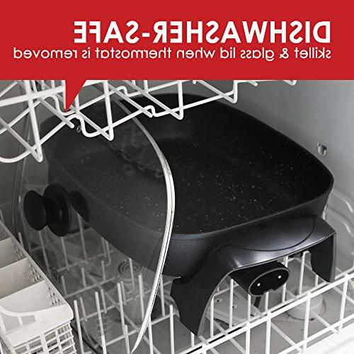 "Elite EG-6203 Electric Glass Vented Lid Easy-Pour 1500W, 16"" x x - quart,"