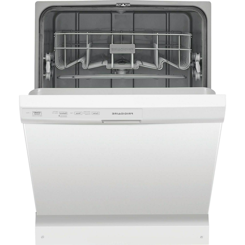 Frigidaire White Built Dishwasher, 3 Cycles, ESTAR