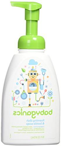 Babyganics Foaming Dish and Bottle Soap, Fragrance Free, 16o