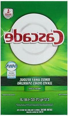 Cascade Fresh Scent Powder Dishwasher Detergent, 75 Ounce