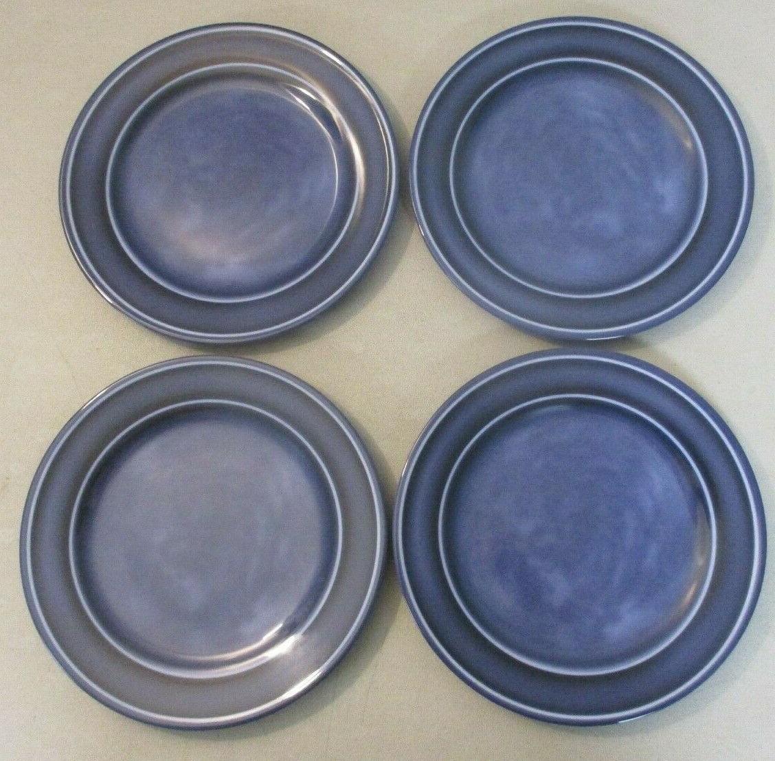 glazed melamine blue dinner plate set of