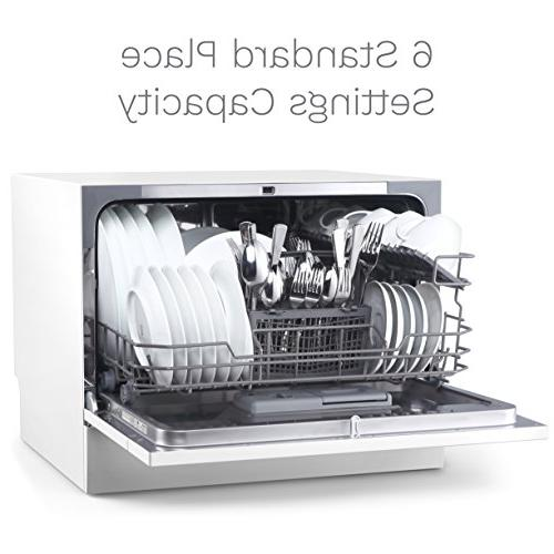 hOmeLabs - Washer in Stainless Interior Office - with 6 Place Setting Silverware Basket