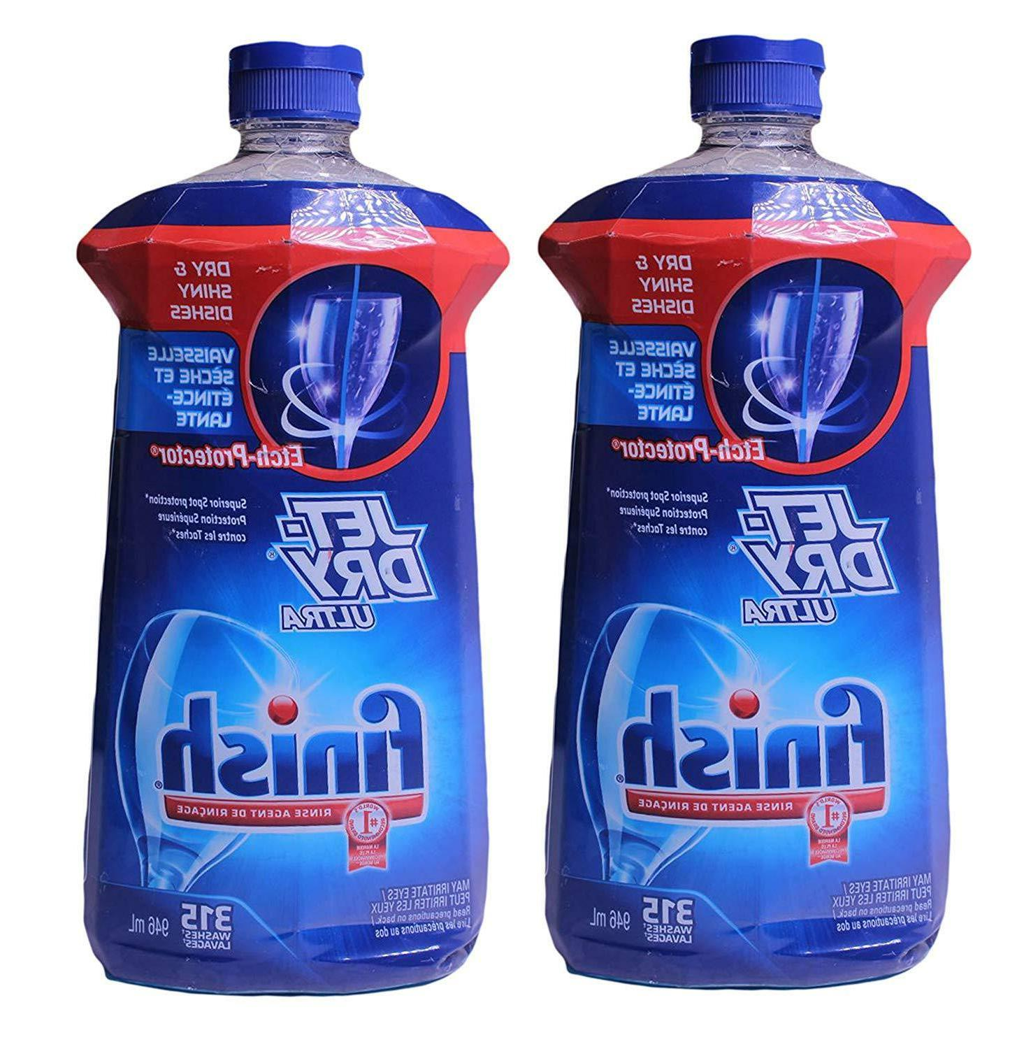 Finish Jet-Dry Rinse Aid, 32 oz, Dishwasher Rinse & Drying A