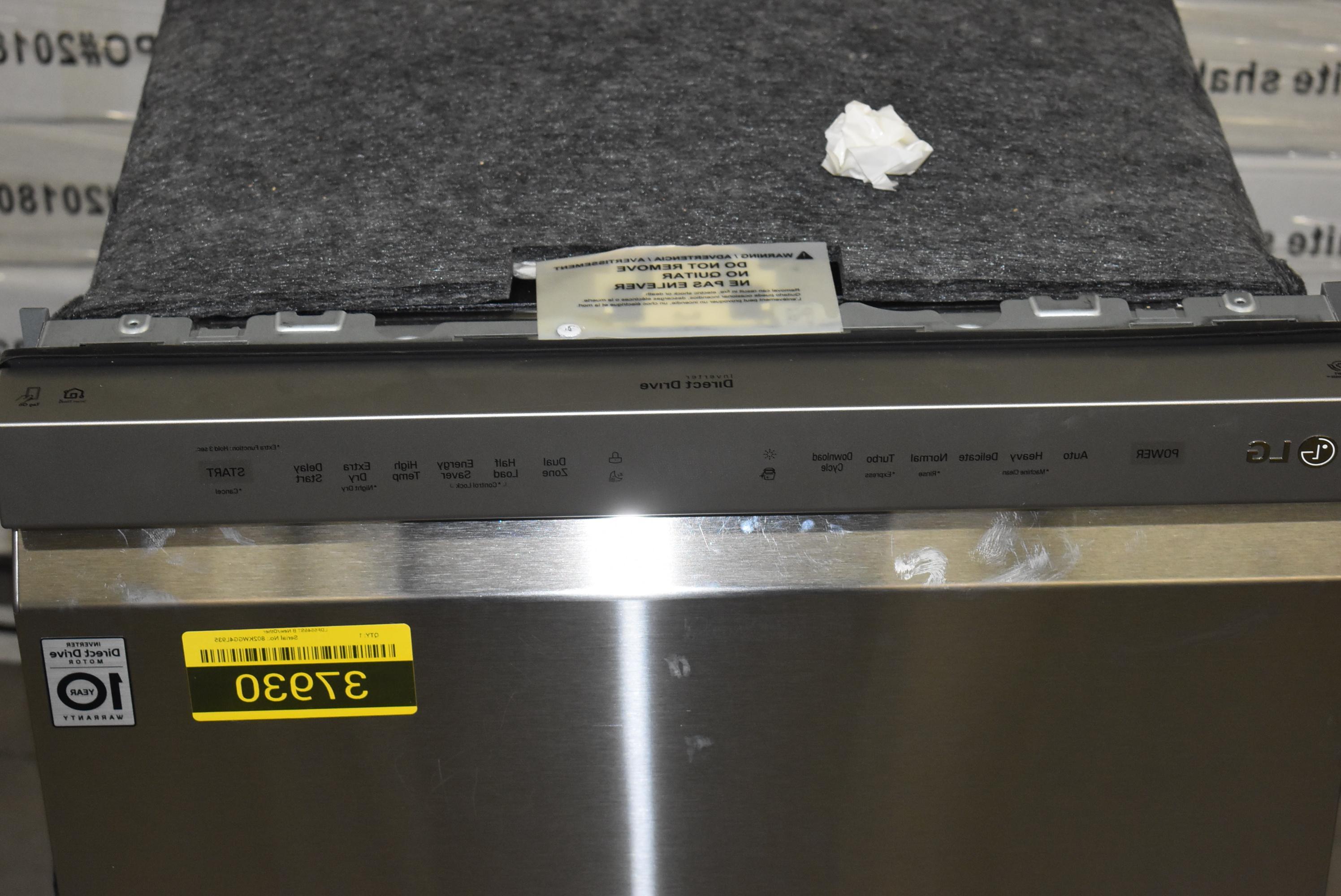 "LG 24"" Full Console Dishwasher NOB #37930 HRT"