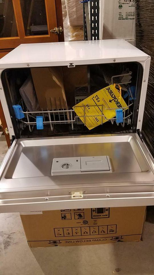 NEW Countertop Portable Compact Mini Apartment Dishwasher White