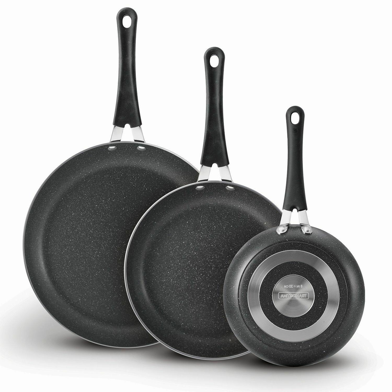 Nonstick 3 Oven Dishwasher Safe Charcoal