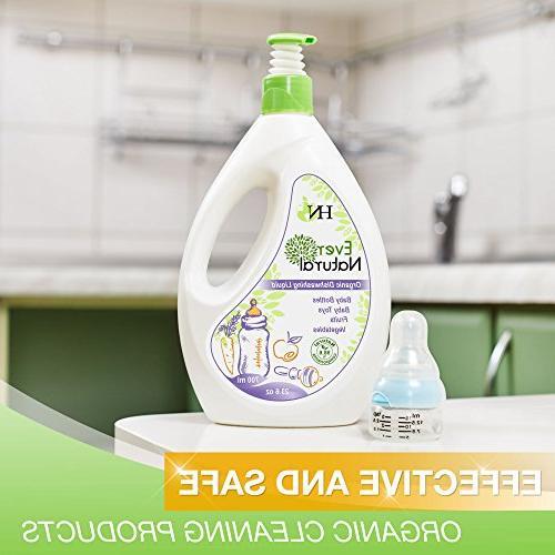 Organic Dishwashing Liquid Washing Kids for Bottles Toys and Vegetables Guard