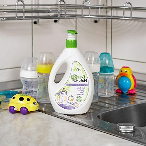 Organic Liquid - Fruit Washing Kids Adults-Dishwashing for Baby Bottles and for Fruits and Vegetables Baby