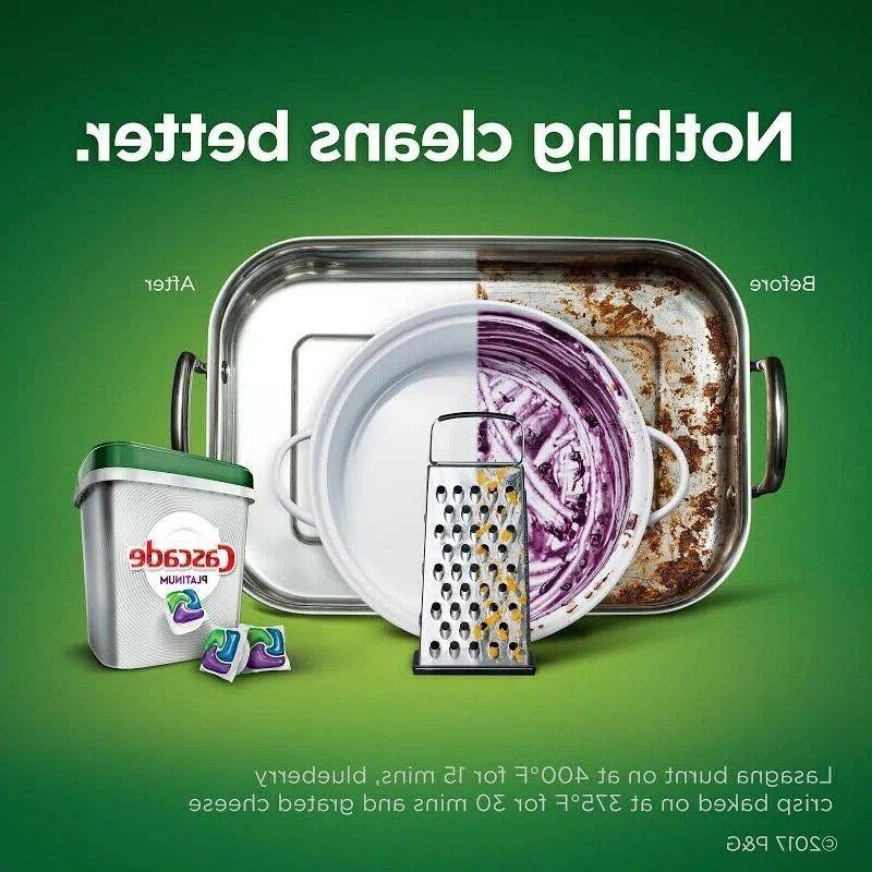 Cascade ActionPacs Dishwasher Detergent, Scent FreeShip